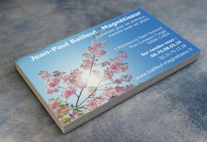 Carte De Visite Jean Paul BAILLEUL Magntiseur