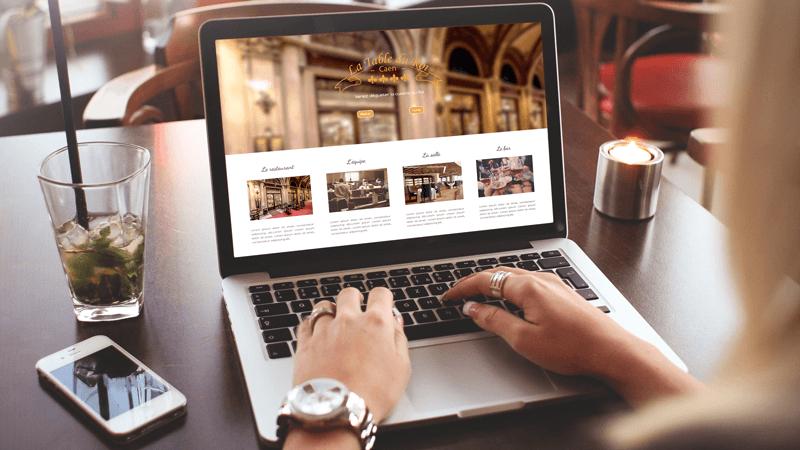 Création site internet maquette restaurant