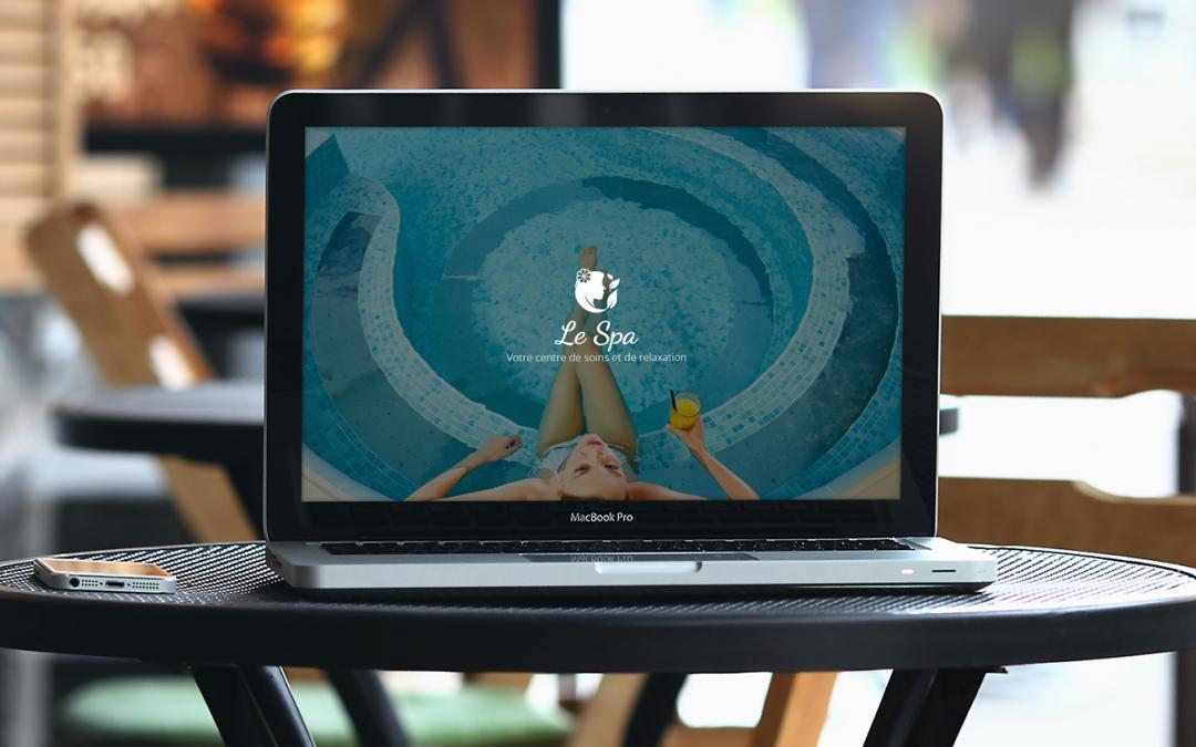 Maquette site internet spa massage