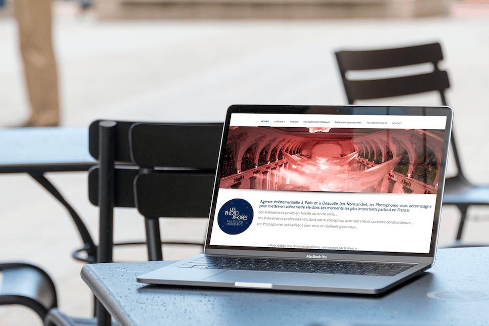 Site Web Agence événementiel Les Photophores