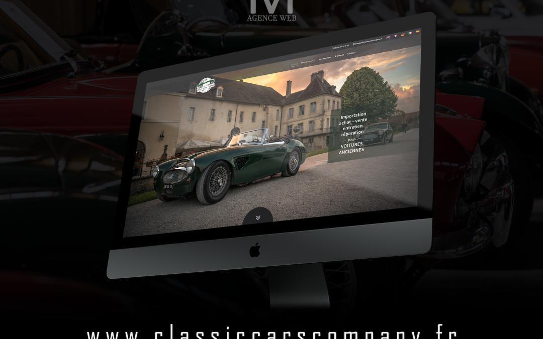 Réalisation nouveau site web pour entreprise de vente de voitures anciennes