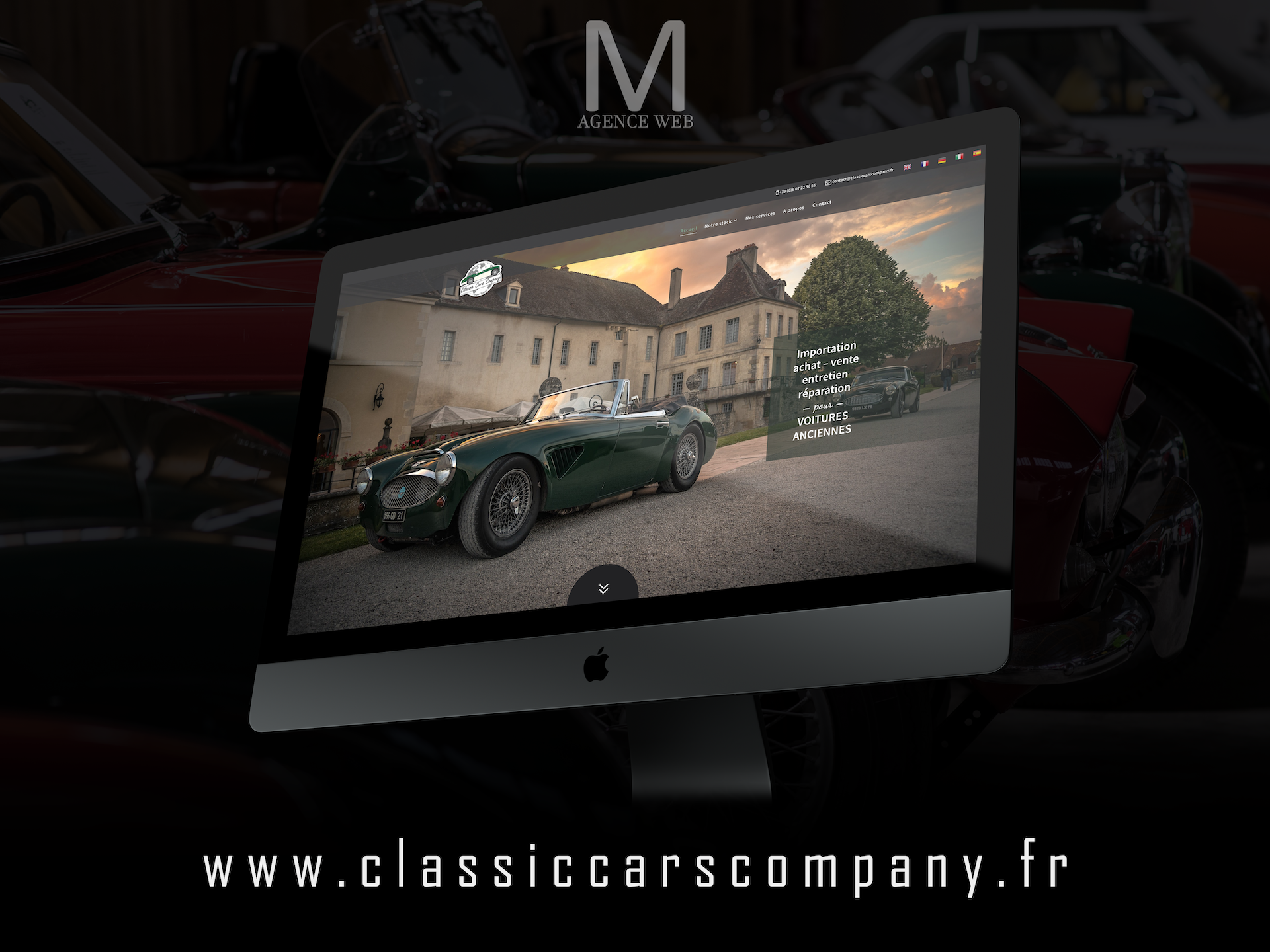Création site internet Classic Cars Company