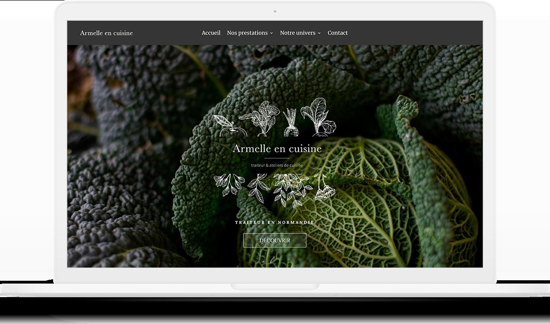 Site web - Armelle en cuisine