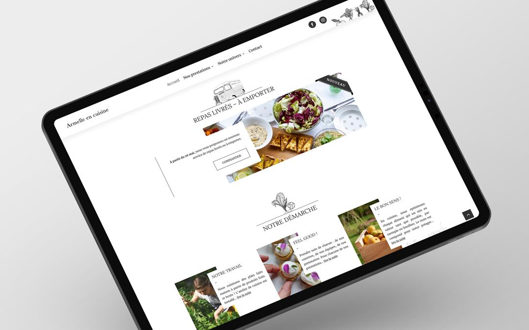 Création site internet traiteur en normandie