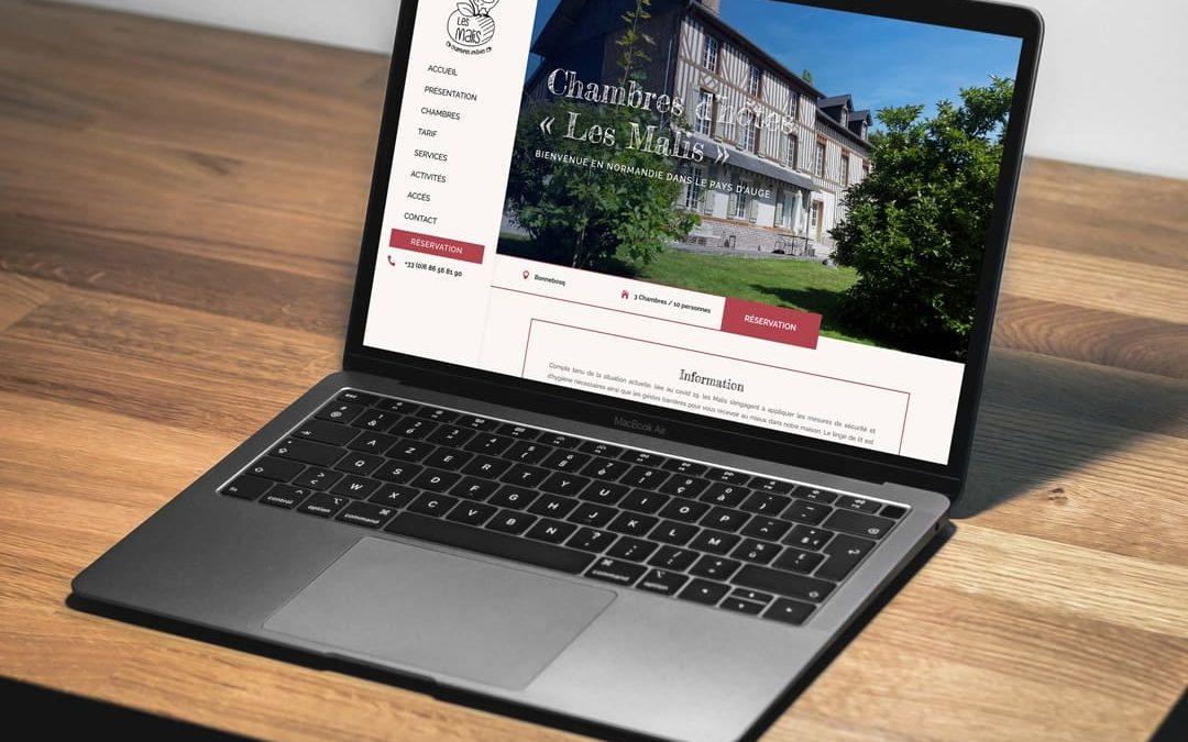 Conception site web chambres d'hôtes en Normandie